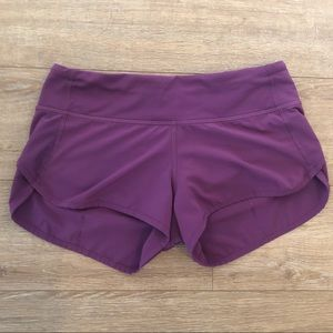 Lululemon Speed Short Sz 4